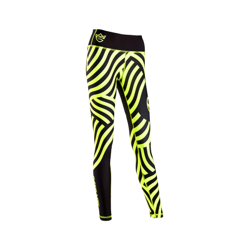 WOMEN'S LEGGINGS FANCY STRIPED GREEN