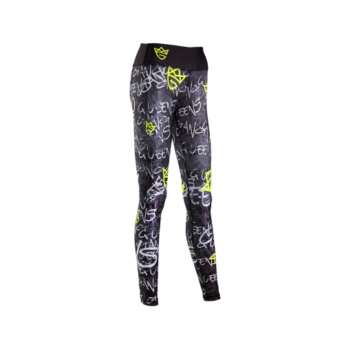 WOMEN'S LEGGINGS GRAFFITI BLACK