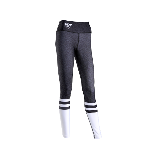 WOMEN'S LEGGINGS HIGH SOCK BLACK&WHITE
