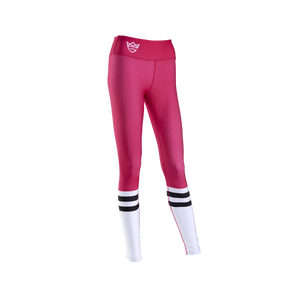 WOMEN'S LEGGINGS HIGH SOCK PINK&WHITE