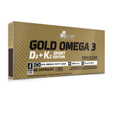 Load image into Gallery viewer, GOLD OMEGA 3 D3+K2