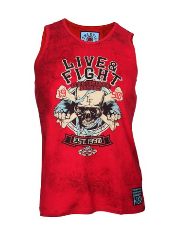 BLOODY KNUCKLES TANK TOP RED