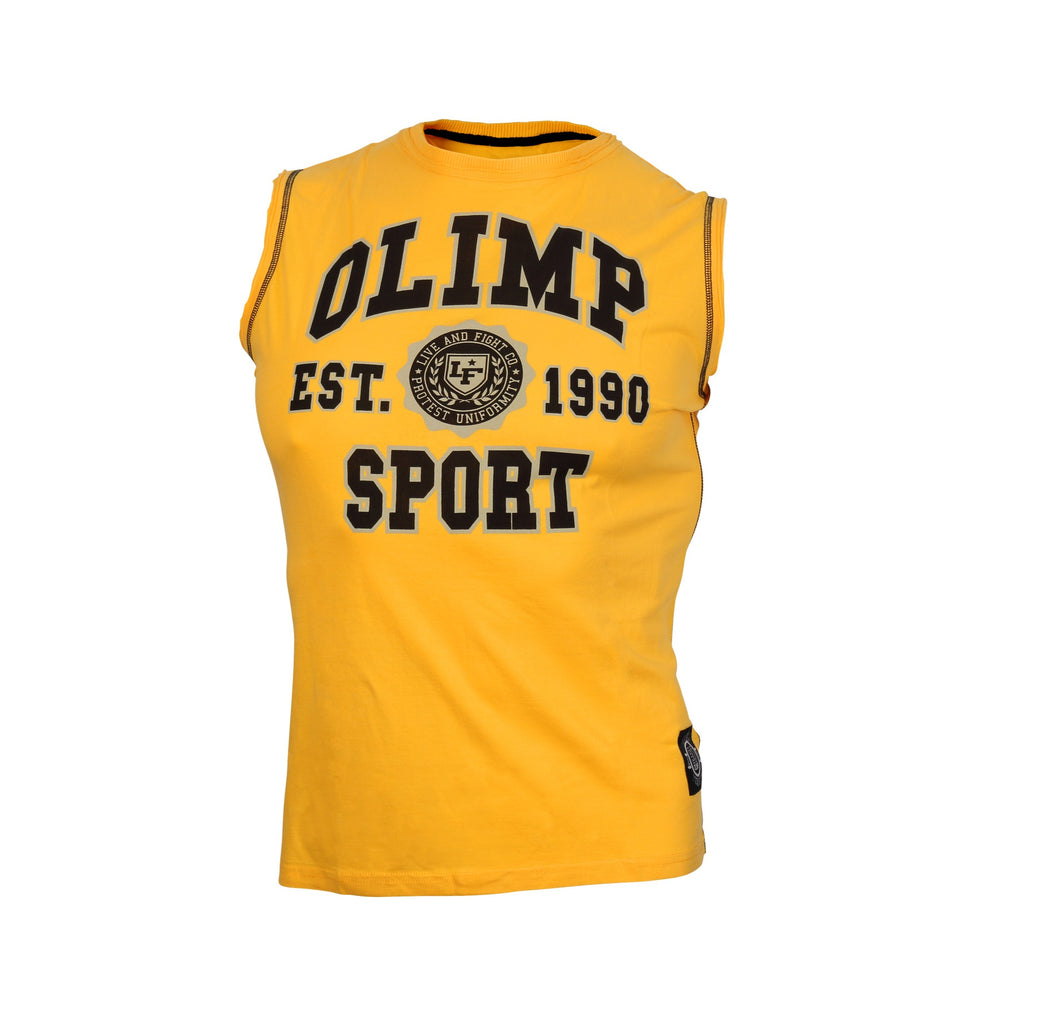 CHAMPION SLEEVELESS TEE SHIRT YELLOW