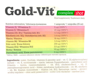GOLD-VIT COMPLEX SHOT