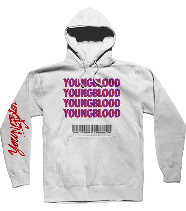 WHITE YOUNGBLOOD HOODIE