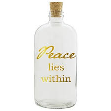 Load image into Gallery viewer, Peace Lies Within Clear Apothecary Jar