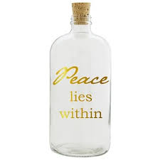 Peace Lies Within Clear Apothecary Jar