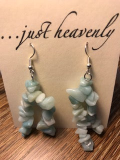 Two Strand Tumbled Gemstone Earring