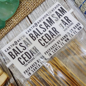 Balsam Cedar Incense from Earth & Anchor
