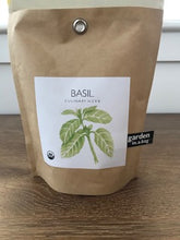 Load image into Gallery viewer, Potting Shed Creations Organic Basil Garden in a Bag