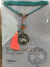 Load image into Gallery viewer, Charm and Tassel Beaded Necklace