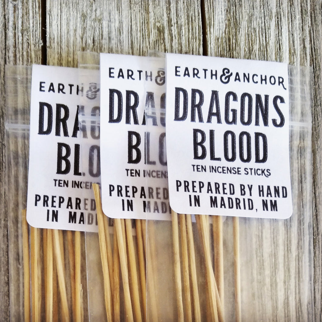 Dragons Blood Incense from Earth & Anchor