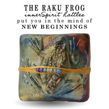 Load image into Gallery viewer, Starting life as a tadpole, the frog gradually transforms into a two-legged creature, finally emerging as a four-legged adult. It is these gradual changes that make it a folklore symbol of transformation, and new beginnings.