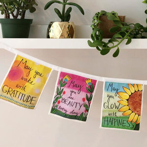 """Grateful Heart"" Blessing Quotes Banner"