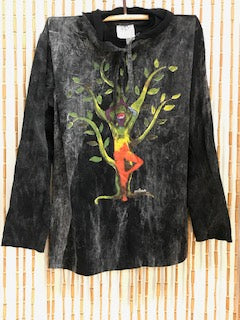 Tree of Life Print Hoodie (Black)