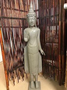 Hand Carved Standing Buddha Statue