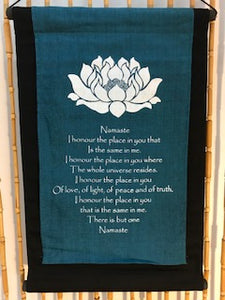 """Namaste"" Inspirational Quote Banner"