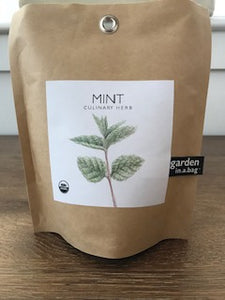 Potting Shed Creations Organic Mint Garden in a Bag