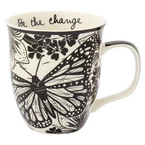 """Be the Change"" Butterfly Art Mug"