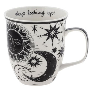 """Keep Looking Up"" Celestial Art Mug"