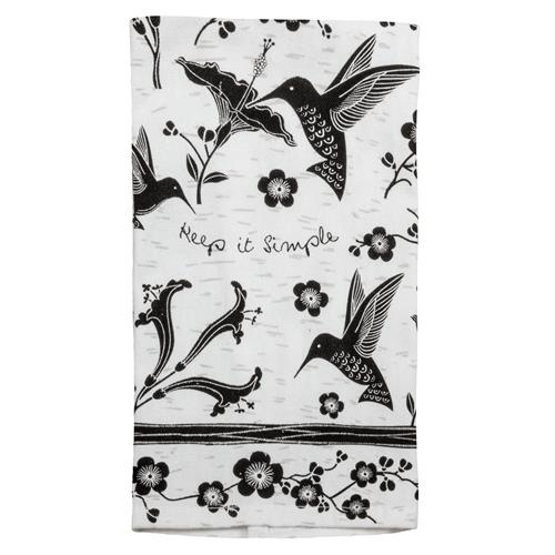 Keep it Simple Hummingbird Tea Towel