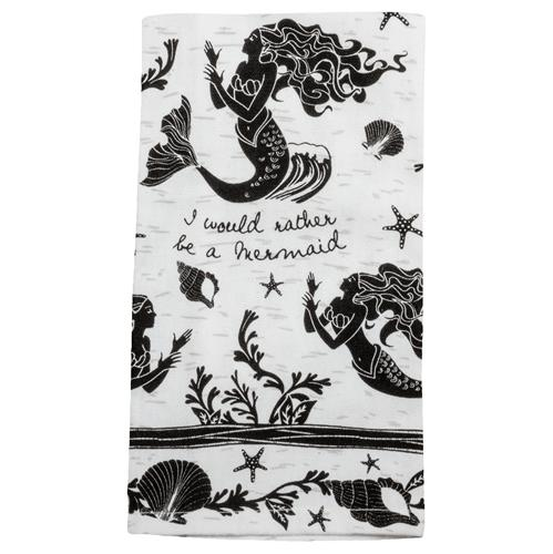 I Would Rather Be a Mermaid Tea Towel