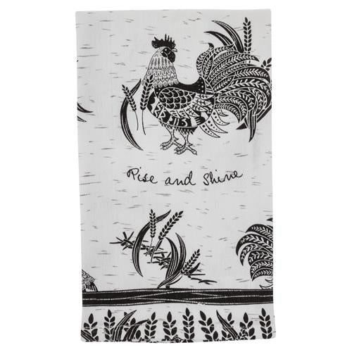 Rise & Shine Rooster Tea Towel