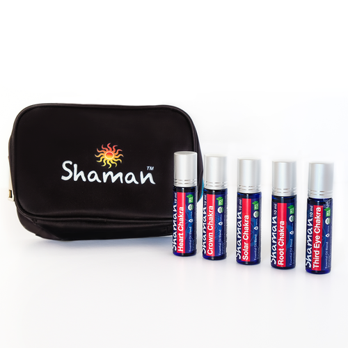 Shaman Oils -  5 Chakras Pure Blends Complete Roll-On Set