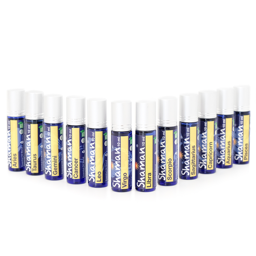 Shaman Oils - 12 Astrology Pure Blends Complete Roll-On Set