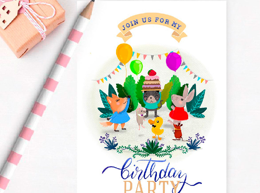 Invitations Birthday Party friends