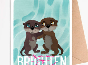 Love Card Otter