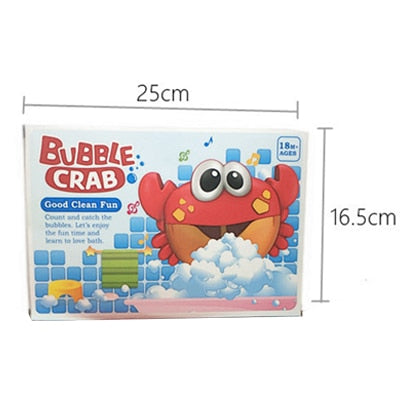Baby Bath Funny Toys Crabs Music Bubble Maker Pool Swimming Bathtub Soap  Machine