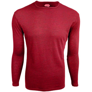 cochineal red alpaca wool t-shirt - ultralight, breathable base layer