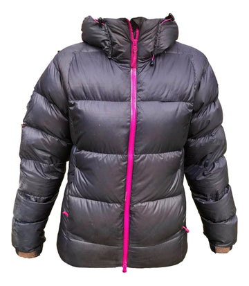 Dark grey and pink down jacket - insulating mid layer