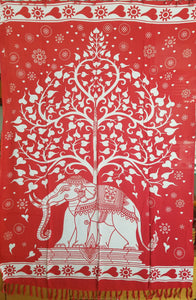 The Elephant Tree in Red