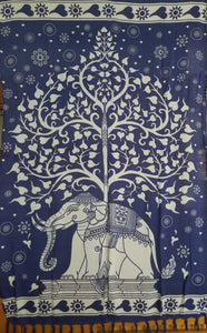 The Elephant Tree in Blue