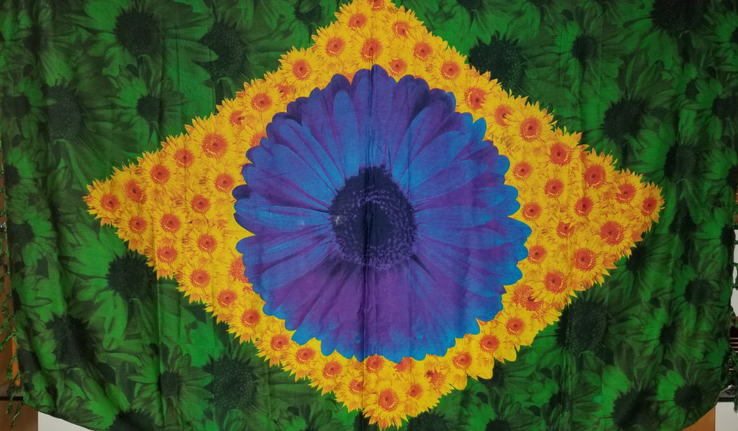 Brazilian Flag and the Flower