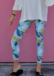 Leggins tigre tropical / menta
