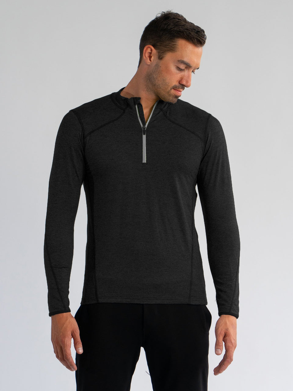 Elevate 1/4 Zip - Black - Large - SODO Apparel - Limited Inventory