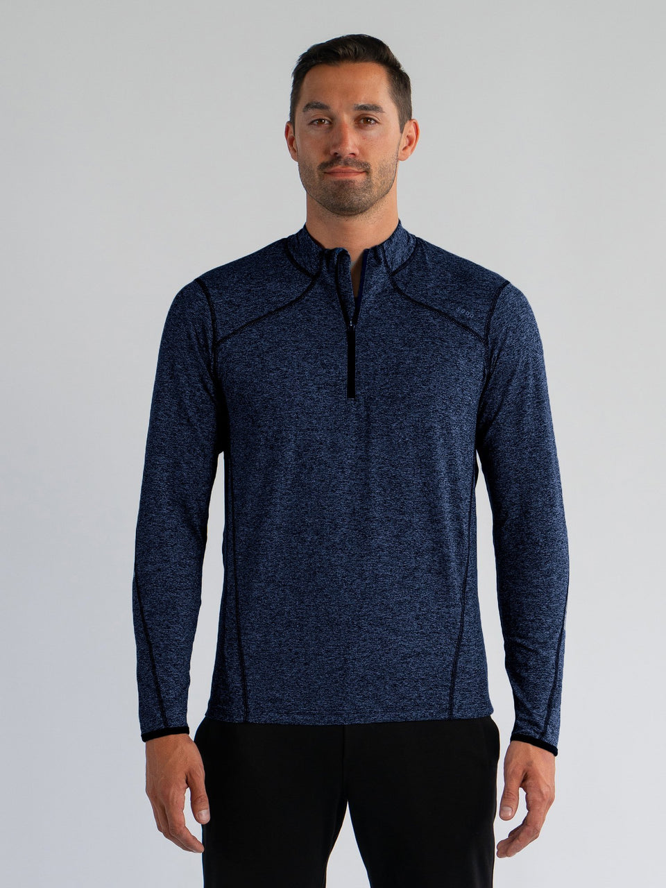 Elevate 1/4 Zip - Navy Black - Small - SODO Apparel - Limited Inventory