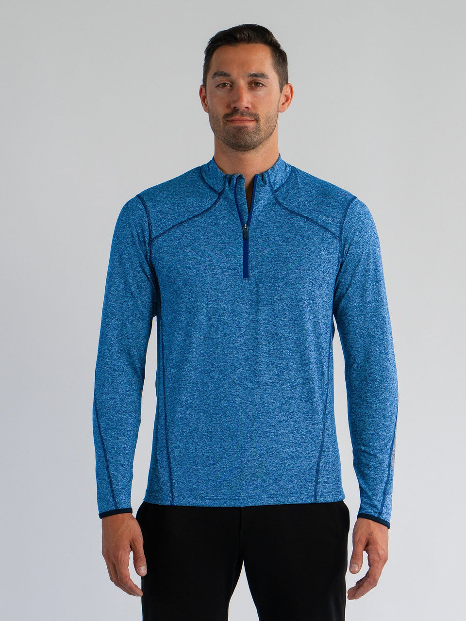 Elevate 1/4 Zip - Ocean Blue - XXL - SODO Apparel - Limited Inventory