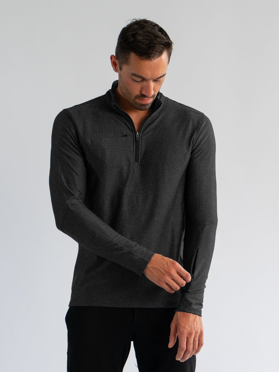 Performance Herringbone 1/4 Zip - SODO Apparel - SHIRTS