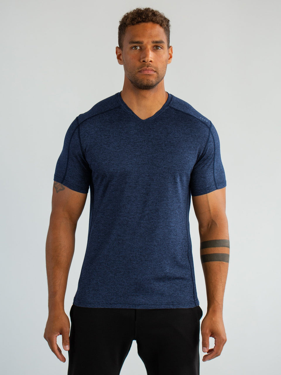 SS High V - Navy Black - Medium - SODO Apparel - Limited Inventory