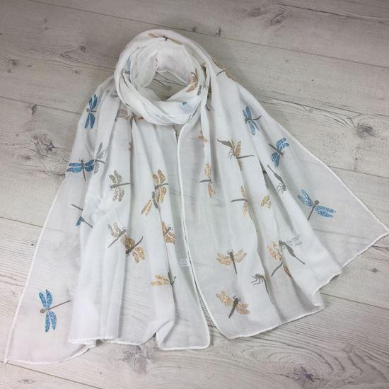 ladies dragonfly scarf