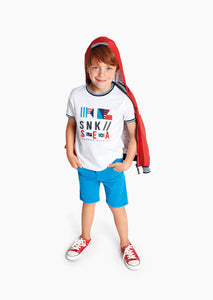 Losan Boys Cotton S/S Embroidered T-shirt