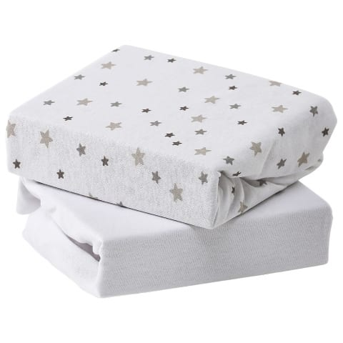 2 Pack Cot Fitted Sheet