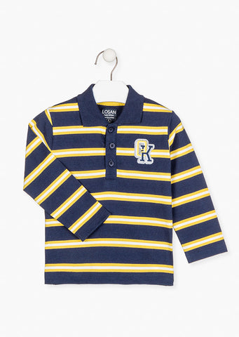 Losan Boys Embroidered patch chest polo.