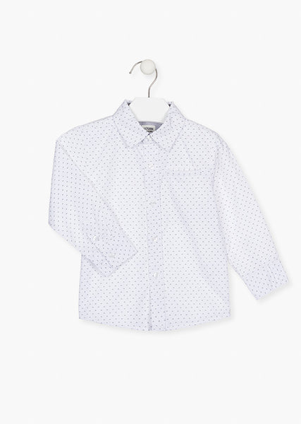 Losan White cotton shirt with all-over print