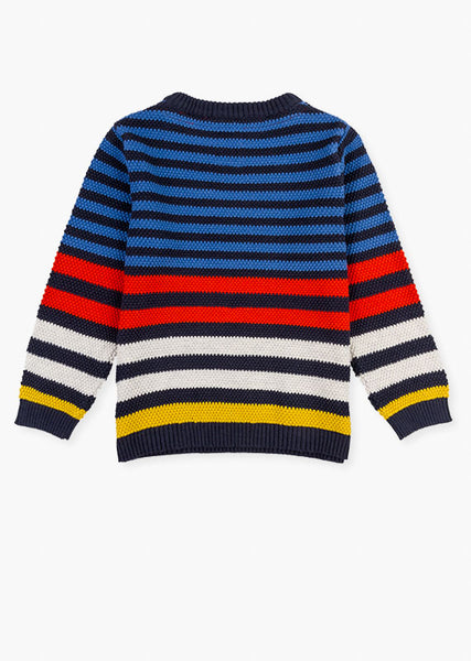 Losan Boys Stripy knit sweater.