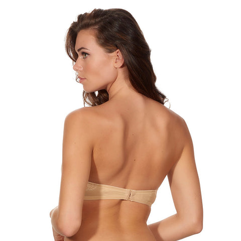 After Eden LACE STRAPLESS BRA -Powder Colour